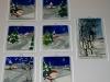świąteczne malowanki na szkle(fusing 12cmx12cm